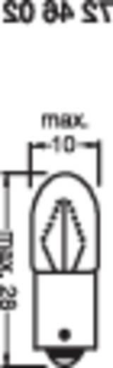 Kis csőizzó 12 V 2 W 166 mA Foglalat=BA9s<b