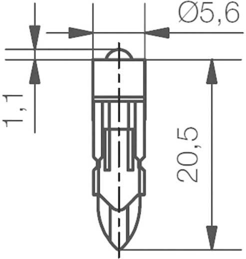 Fehér LED jelzőfény (jelzőlámpa helyettesítő) Signal Construct MEDK5562 Fehér Üzemi feszültség 12 V/DC Foglalat T5.5 k
