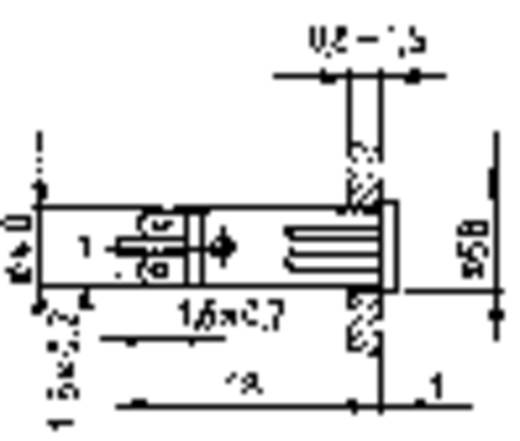 Jelzőlámpák izzóval 28 V 1.2 W, piros (átlátszó), RAFI, tartalom: 10 db