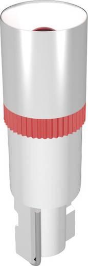 LED lámpa W2x4.6d Piros 24 V/DC