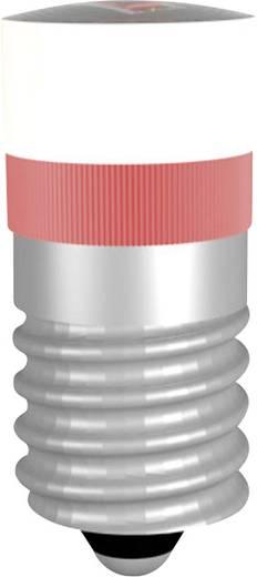 LED lámpa E10 Piros 12 V/DC, 12 V/AC, 24 V/DC, 24 V/AC, 48 V/DC, 48 V/AC 230 mcd Signal Construct MWME2509BR