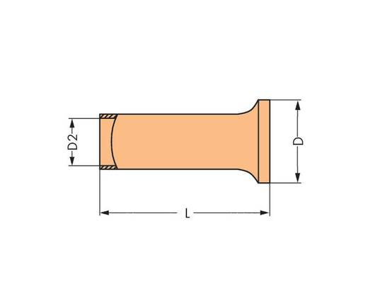 Érvéghüvely 50 mm² 30 mm Szigetelés nélkül Fémes WAGO 216-425 50 db