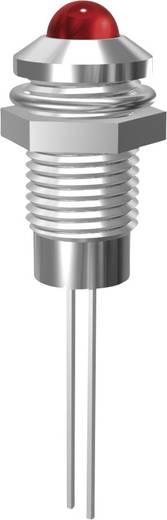 Króm LED jelzőlámpa piros 5mm