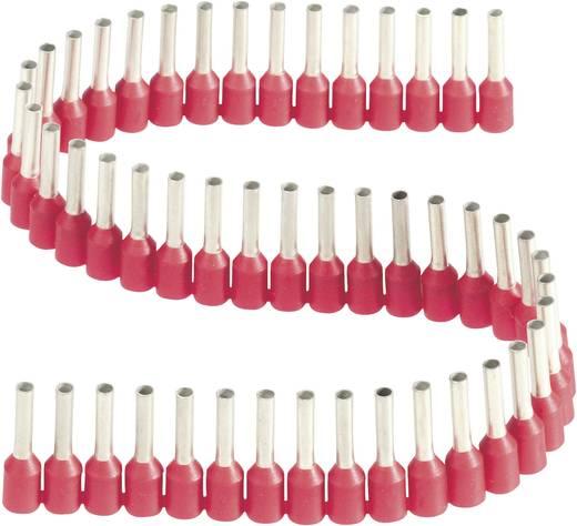 érvéghüvelyek műanyag nyakkal szalagon 1,5 mm² x 8 mm piros Vogt Verbindungstechnik 1 szalag = 50 érvéghüvely
