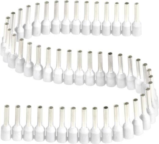 érvéghüvelyek műanyag nyakkal szalagon 0,3 - 0,5 mm² x 8 mm fehér Vogt Verbindungstechnik 1 szalag = 50 érvéghüvely