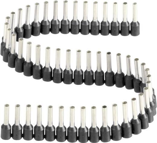 érvéghüvelyek műanyag nyakkal szalagon 1,5 mm² x 8 mm fekete Vogt Verbindungstechnik 1 szalag = 50 érvéghüvely