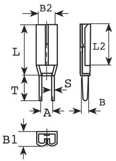 Nyákba forrasztható lapos csúszósaru hüvely 2,8 x 0,8 mm, szigeteletlen, fém, Vogt Verbindungstechnik 3785F05.68