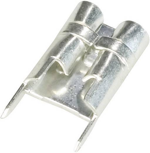 Nyákba forrasztható lapos csúszósaru hüvely 4,8 x 0,8 mm, szigeteletlen, fém, Vogt Verbindungstechnik 3826F08.68