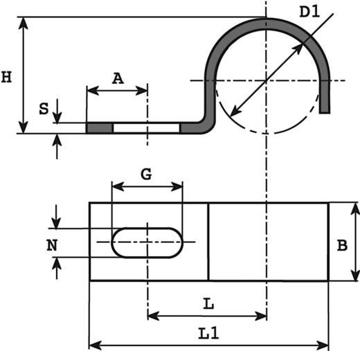 Kábelrögzítő bilincs, Köteg Ø: 8 mm 5005.99 Ónozott Vogt Verbindungstechnik, tartalom: 1 db