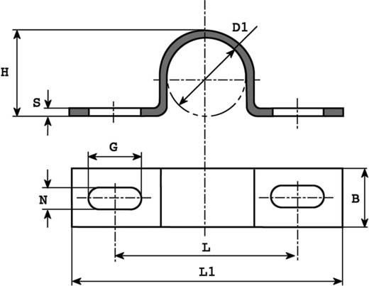 Kábelrögzítő bilincs, Köteg Ø: 7 mm 5100.99 Ónozott Vogt Verbindungstechnik, tartalom: 1 db