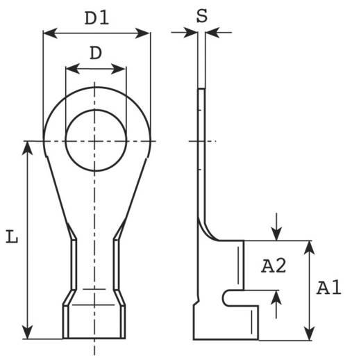 Gyűrűs kábelsaru 0.5 mm² 1 mm² M3 Szigetelés nélkül Fémes Vogt Verbindungstechnik 3310A.68 1 db