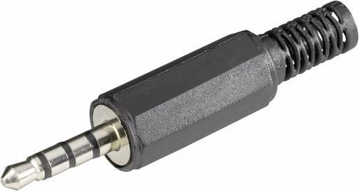 Jack csatlakozó, 3,5 mm dugó, egyenes, pólusszám: 4, Sztereo, fekete, BKL Electronic 1107017