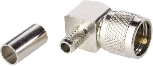 Derékszögű mini UHF dugó, krimpelhető