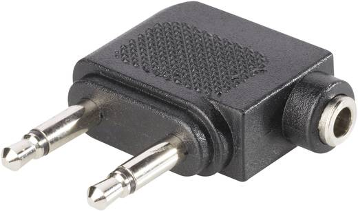 Adapter 2x jack dugó, 3,5MM mono jack alj