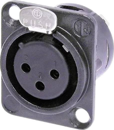Neutrik XLR beépíthető peremes hüvely, 3 pól., NC 3 FLD 1 BAG