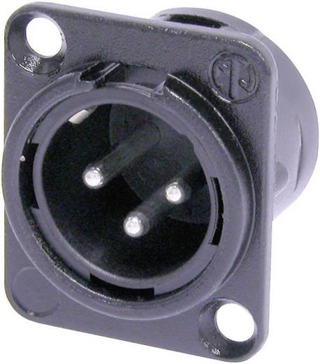 Neutrik XLR beépíthető peremes dugó, 3 pól., NC 3 MDL 1 BAG