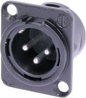 Neutrik XLR beépíthető peremes dugó, 3 pól., NC 3 MDL 1 BAG Neutrik