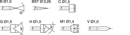 """Beépíthető, szerelhető mérőhegy, mérőtüske, """"V"""" sorozat PTR 1025/E-V-1.5N-AU-0.9"""