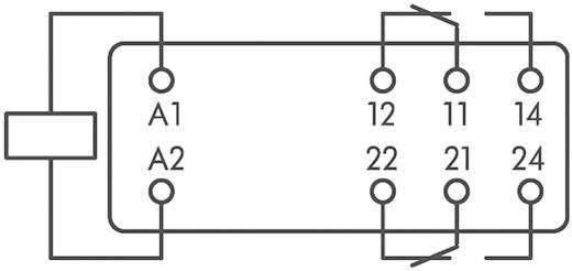 Üres foglalat, 15MM relé magasság, 2 váltó