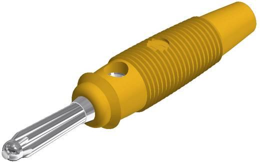Hirschmann csavaros banándugó, egyenes, Ø 4 mm, sárga, BUELA 20 K SKS