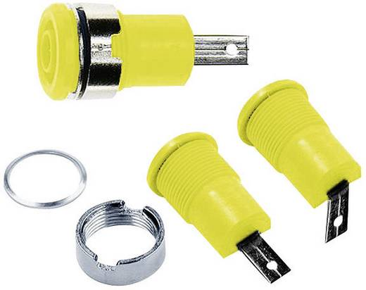 Beépíthető hüvely, 4 mm, SLB4-F/A sárga