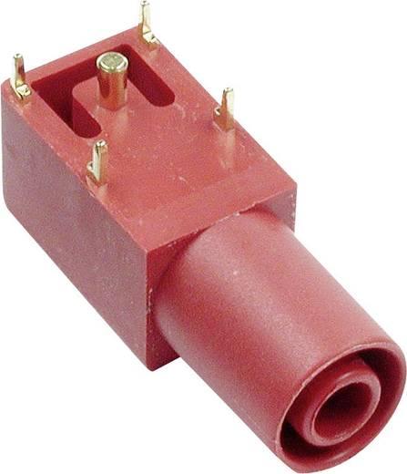 Beépíthető hüvely, 4 mm, SLB4-I/90 piros