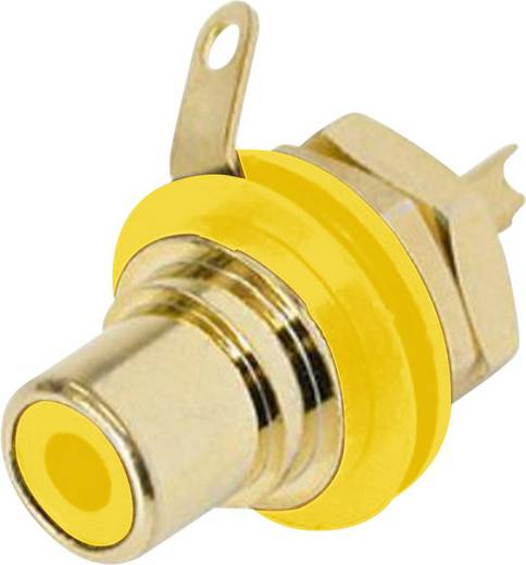 Beépíthető RCA csatlakozóaljzat, sárga NYS 367-4