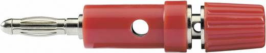 Banándugó Adapter, egyenes Tű átmérő: 4 mm Piros