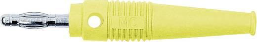 MultiContact lamellás banándugó, forrasztós, átmenő furattal, L-41Q, Ø 4 mm, 32 A, sárga, 64.9199-24