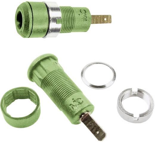 Beépíthető hüvely 2 mm,SLB2-F2,8 zöld
