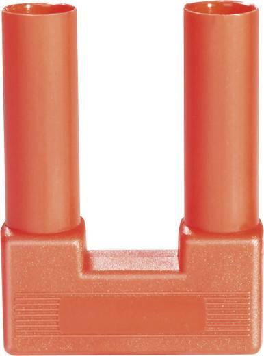 Biztonsági rövidzár dugó, szigetelt 4 mm piros