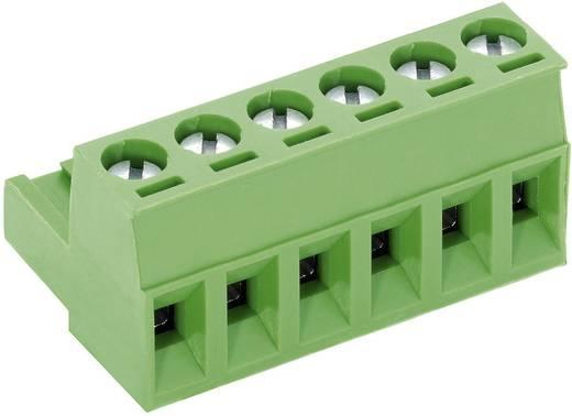 PTR csavaros sorkapocs, 5 pol., raszter 5 mm, zöld, AK950/5-5.0