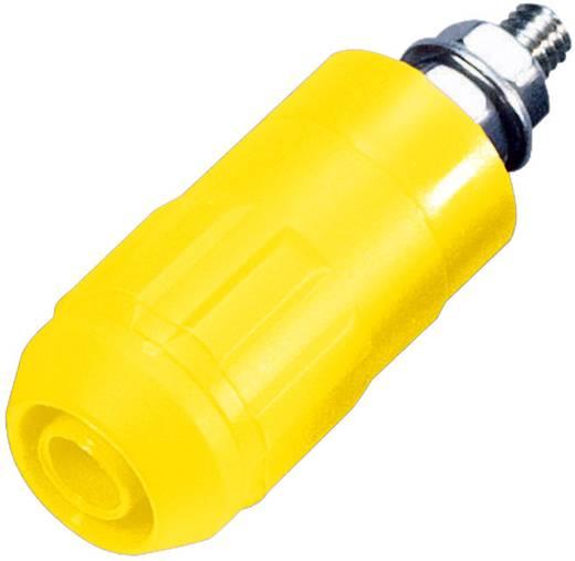 Beépíthető hüvely, 4 mm, XUB-G sárga
