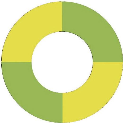 Színjelölő gyűrű 6 mm Zöld-sárga Csatlakozó (speciális)=- 14.5010 MultiContact
