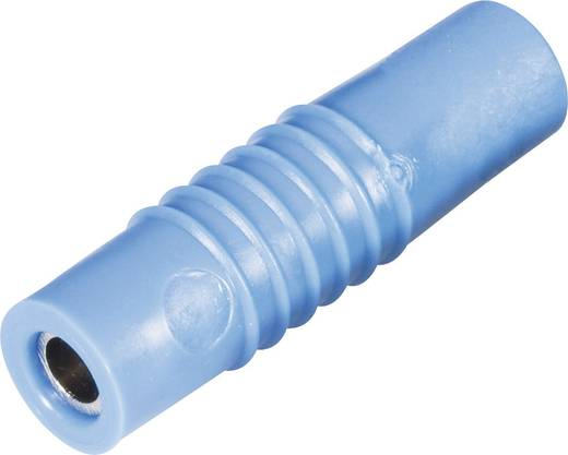 Schnepp csavaros lengő banánhüvely, egyenes, Ø 4 mm, kék, KP 4000 L