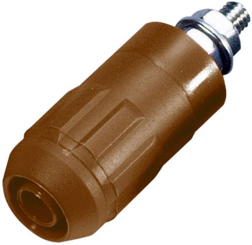 Beépíthető hüvely, 4 mm, XUB-G barna