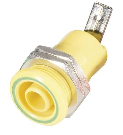 Biztonsági csatlakozó hüvely belül 4 MM sárga