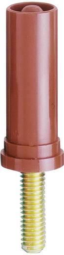MultiContact beépíthető biztonsági banándugó, csavaros, Ø 4 mm, piros, SA400-VI