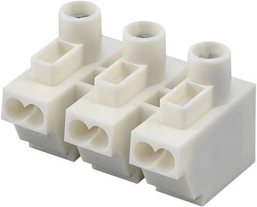 Előtét csatlakozó 3 pólusú, 0,5 - 1,5 mm² 12A, fehér, 1 db