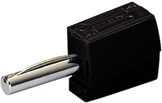 Gyorsszorítós banándugó, egyenes, Ø 4 mm, fekete WAGO 215-311