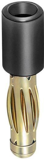 MultiContact banándugó adapter, egyenes, Ø 4/2 mm, fekete