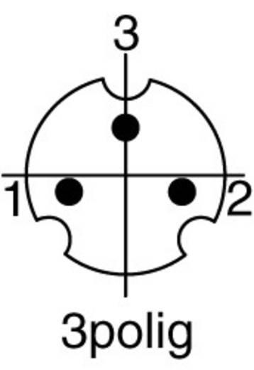 Miniatűr DIN kerek csatlakozó Dugó, egyenes Pólusszám: 3 <b