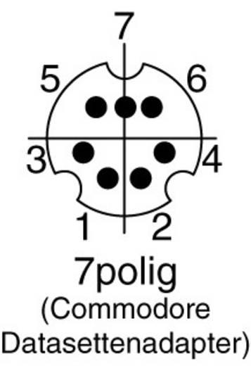 Miniatűr DIN kerek csatlakozó Dugó, egyenes Pólusszám: 7 Fekete BKL Electronic 204005 1 db