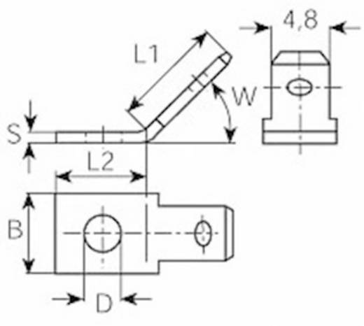 Dugaszoló csúszósaru dugó 2,8 mm/0,8 mm 45° szigeteletlen, fémes Vogt Verbindungstechnik 3823.67