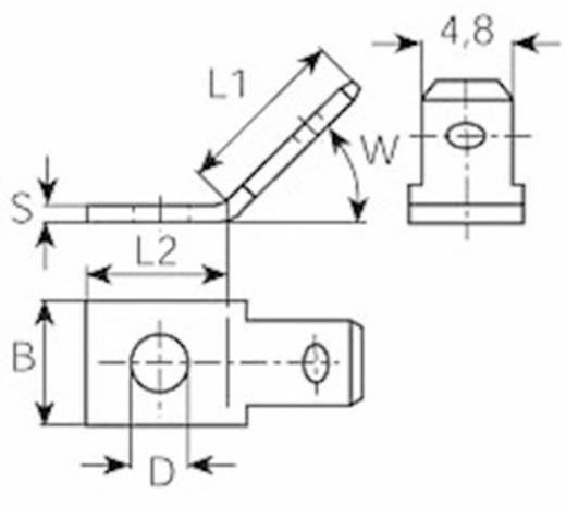 Dugaszoló csúszósaru dugó 4,8 mm/0,8 mm 45° szigeteletlen, fémes, Vogt Verbindungstechnik 3823.67