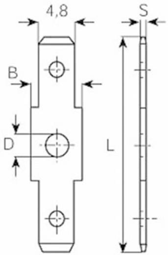 Dugaszoló csúszósaru dugó 2,8 mm/0,8 mm 180° szigeteletlen, fémes Vogt Verbindungstechnik 3821R.67