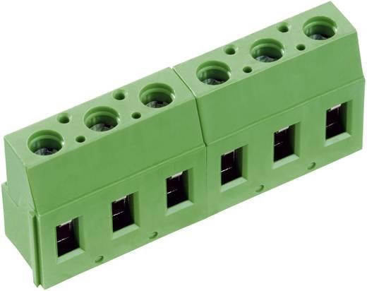 Forrasztható csavaros szorító emelő elvvel, AK(Z)710-V, RM 7.62 mm Pólusszám: 3 zöld 50710030213E PTR