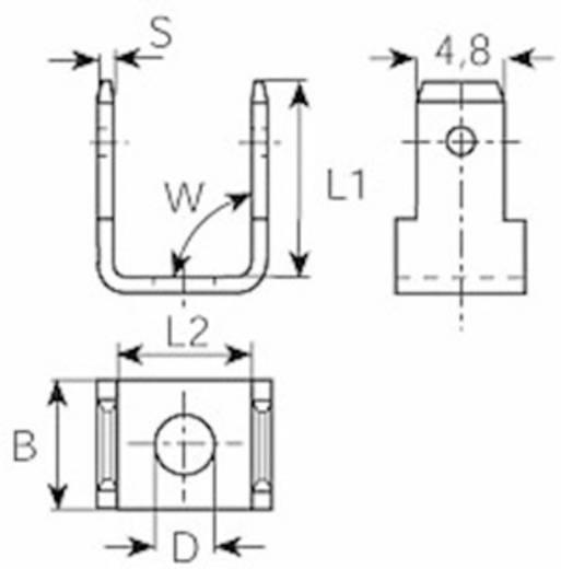 Dugaszoló csúszósaru dugó 2,8 mm/0,8 mm 90°/90° szigeteletlen, fémes Vogt Verbindungstechnik 3821R90.67