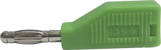 SCI forrasztós banándugó, egyenes, Ø 4 mm, 10A, 2,5 mm², zöld
