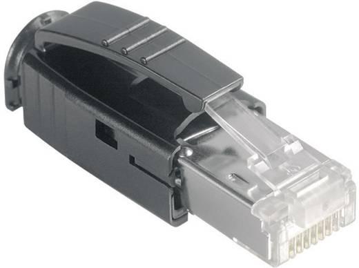 RJ45 moduláris csatlakozó dugó, egyenes, CAT6a, 8P8C, Metz Connect 1401505012-E